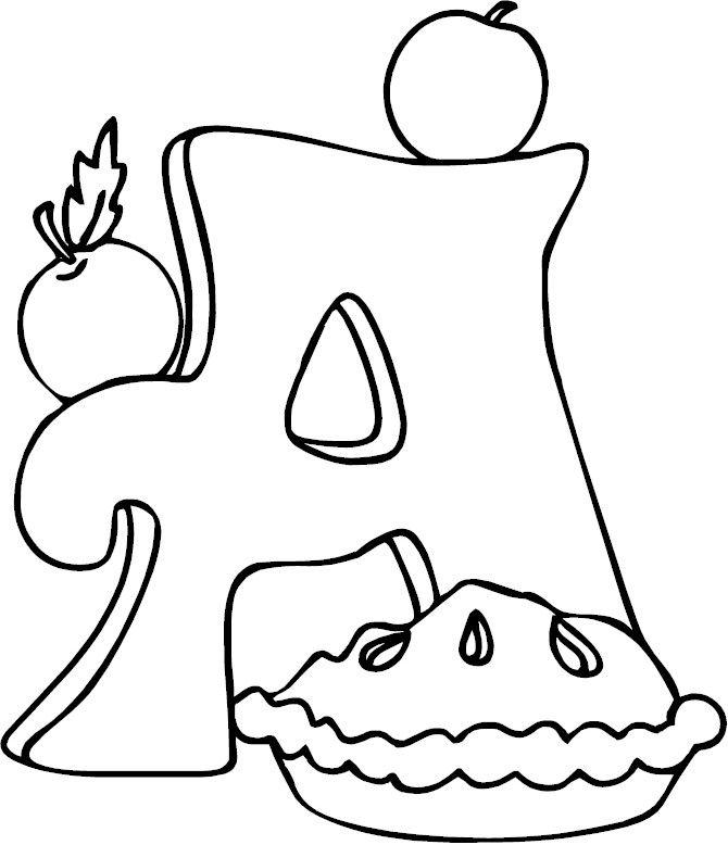 letter a - alphabet letters to colour | Letter A Daycare | Pinterest