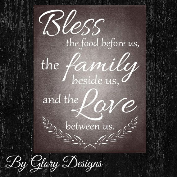 photograph regarding Bless the Food Before Us Printable known as Printable, Loved ones prayer printable, Kitchen area Printable, Bless