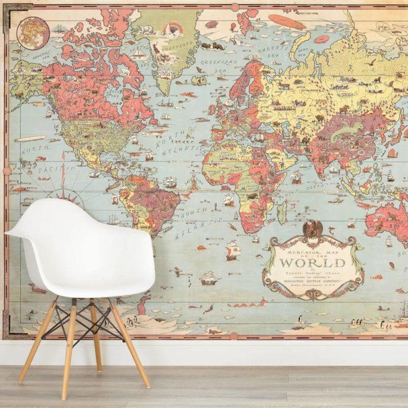 Kids vintage world map square wall murals dining pinterest kids vintage world map square wall murals gumiabroncs Image collections