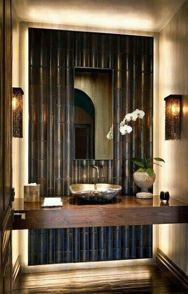 23 ไอเด ย การ Diy ไม ไผ ท นำมาตกแต งบ านได สวยงาม น ามอง Ihome108 Powder Room Design Room Design Bathroom Design