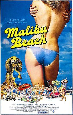 Malibu Beach 1978 Movie Poster Malibu Beaches Movie Posters