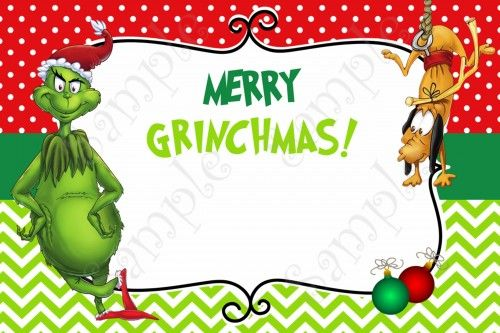 Grinch Christmas Party Invitation Free Grinchmas card Grinch