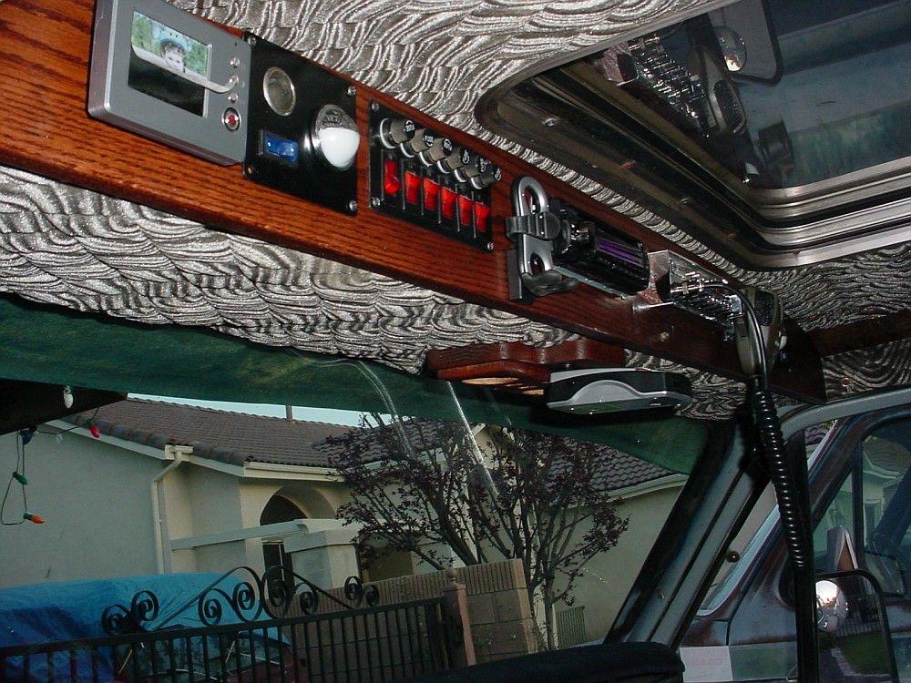 75 Dodge Overhead Console Custom Van Interior Custom Vans Van
