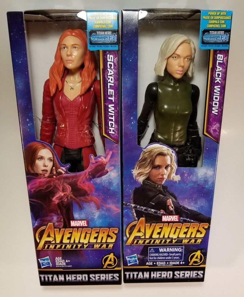 Marvel Titan Hero Series 12 Inch Black Widow And Scalet Witch New Sealed Marvel Marvel Action Figures Hero