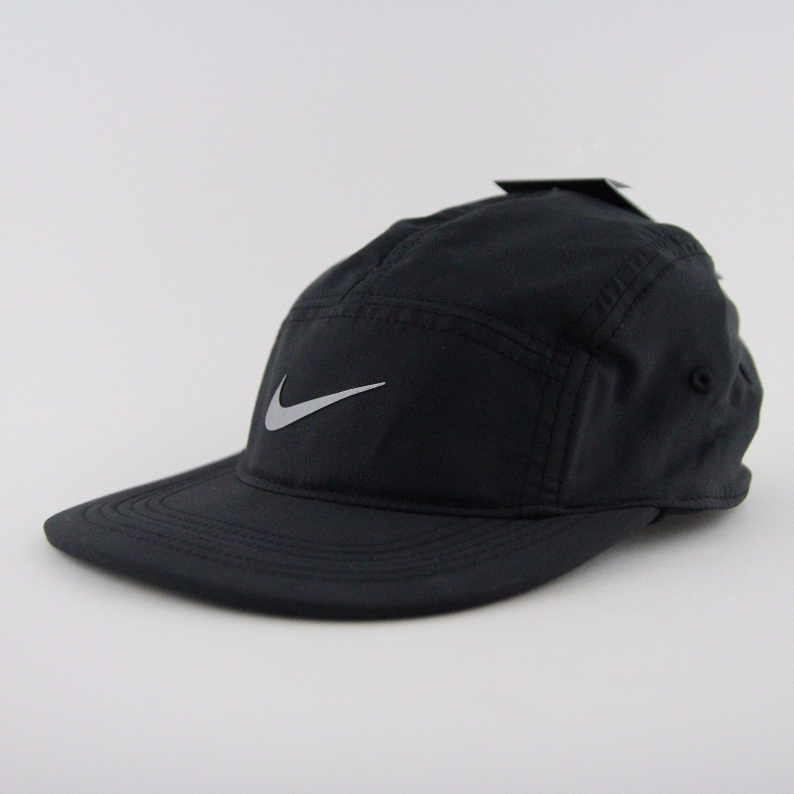 Men s Nike Aw84 Windrunner Five 5 Panel Black Running Cap Hat Os 876077 010  Nsw 7a9f737a84a