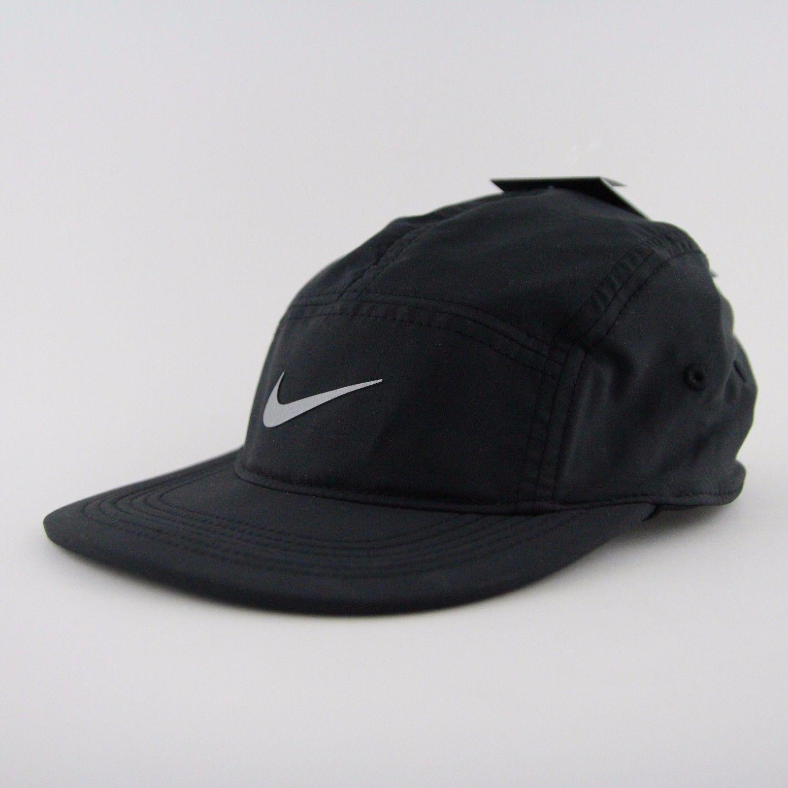 2aa5484c09cd83 Men's Nike Aw84 Windrunner Five 5 Panel Black Running Cap Hat Os 876077 010  Nsw
