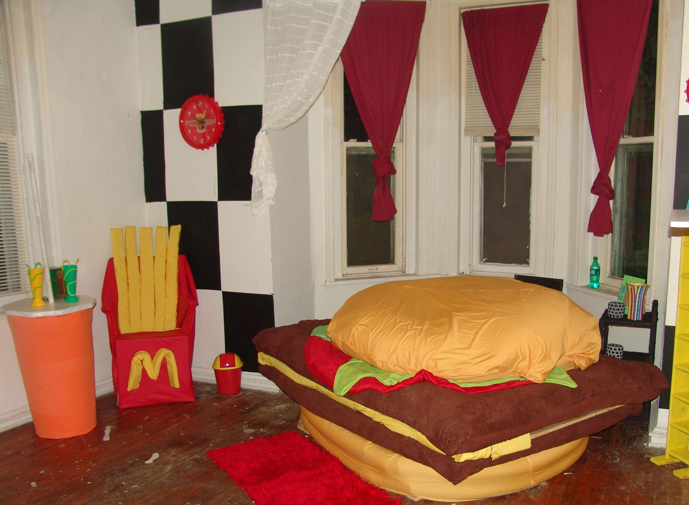 Diy Hamburger Bed My Finished Diy Projects Hamburger Bed Dream