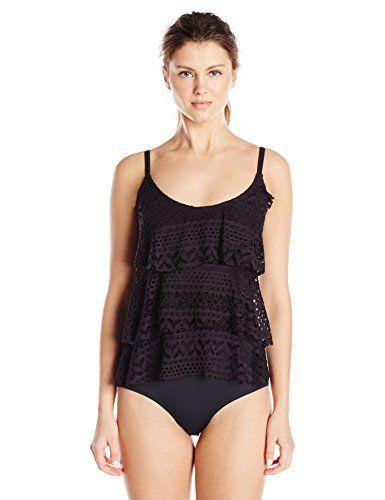 Jones New York Women's Neo Crochet Triple Tier Ruffle One Piece Swimsuit  http://www.swmst.com/jones-new-york-womens-neo-crochet-triple-tier-ruffle-one-piece-swimsuit/