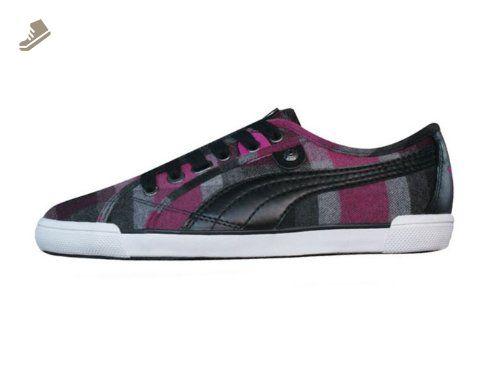 Puma Corsica Plaid Womens sneakers Shoes Black SIZE US