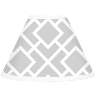 Sweet JoJo Designs Grey and White Diamond Lamp Shade