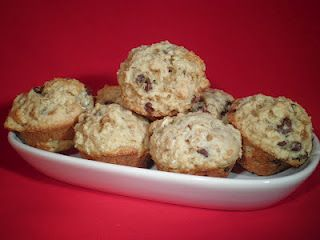 Oatmeal Chocolate Chip Mini Muffins via Secrets from the Cookie Princess @Cookie Princess