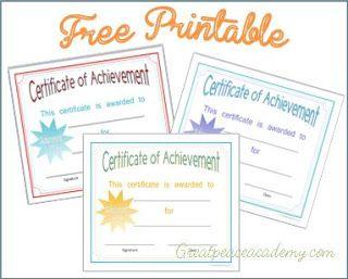 Homeschool Award Certificates  Curriculum Certificate