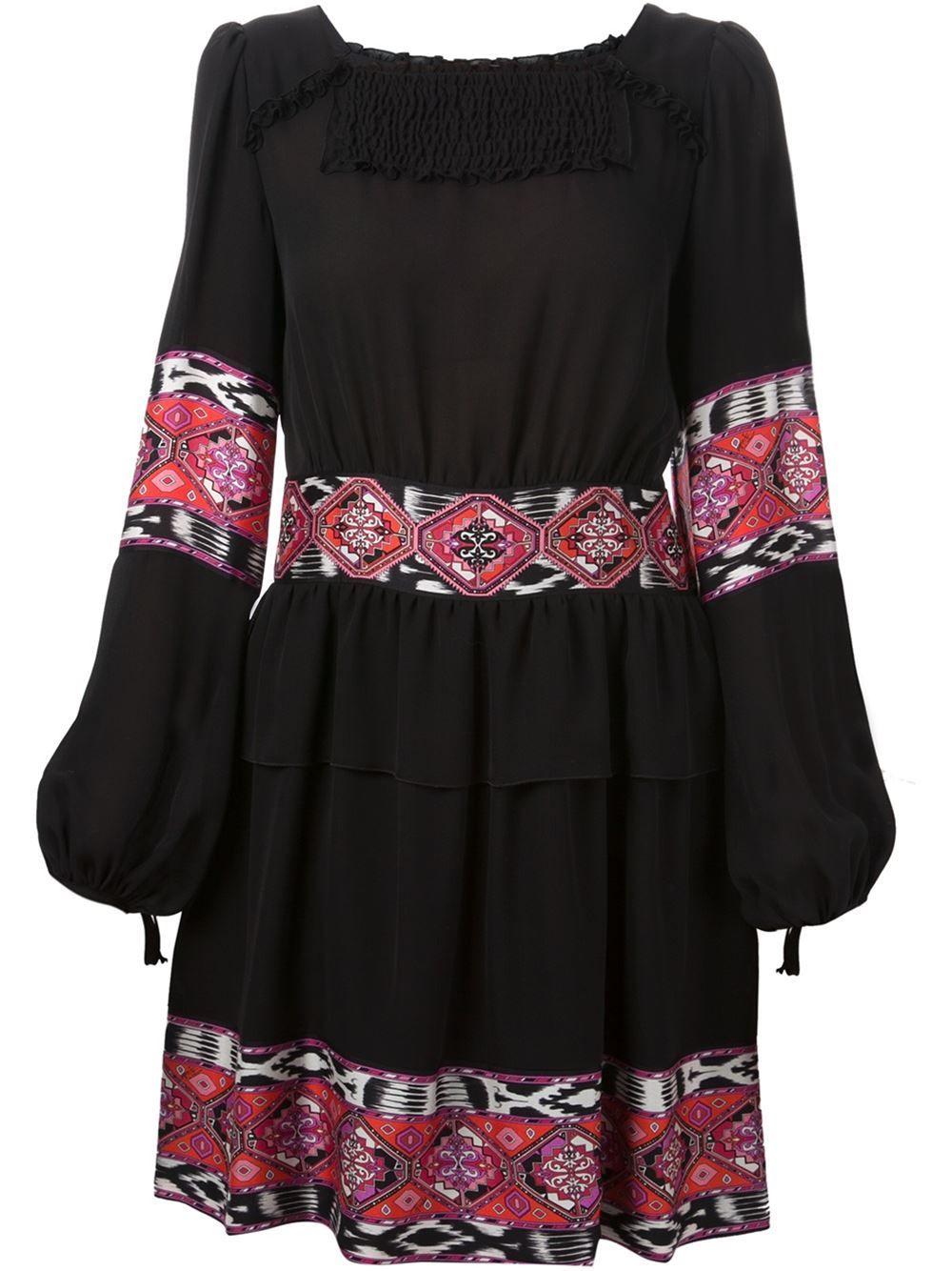 Emilio Pucci Ruffled Suzani Dress - Elite - Farfetch.com