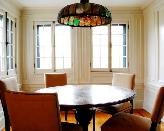 Traditional Tiffany Ceiling Lighting In The Dining Area Modern Dining Room Traditional Dining Room Living Room Pictures