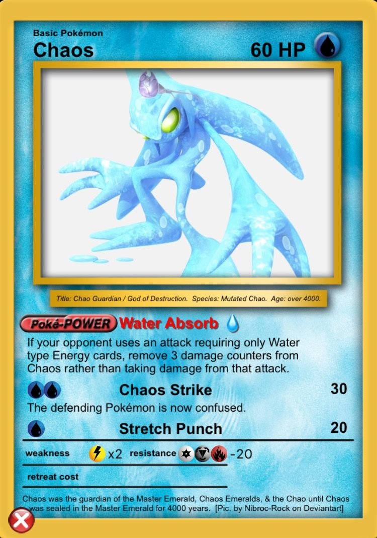 Chaos 0   Pokemon, Water type, Cards