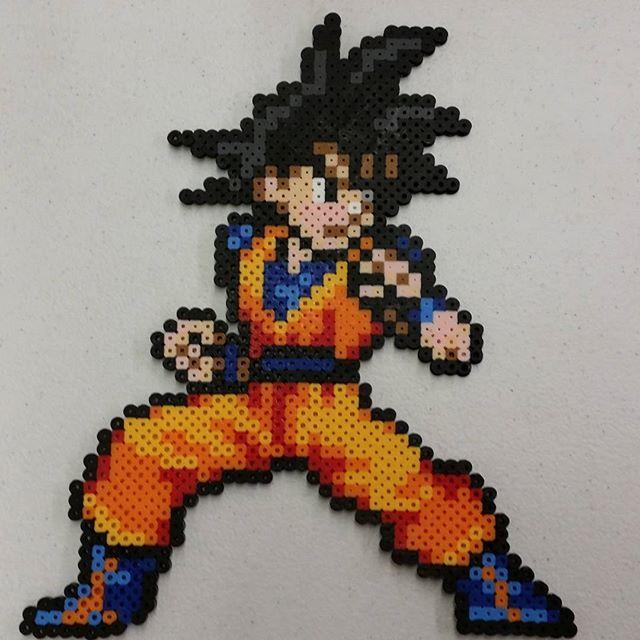 Goku Dragon Ball Perler Beads By Pixels2plastic Plantillas Hama Beads Hama Beads Manualidades