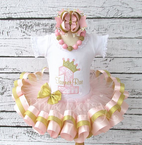 Fabric Tutu First Birthday Outfit Pink Cash Smash Outfit Gold Shabby Chic Tutu First Birthday Outfit Mint Baby Girl Birthday Outfit