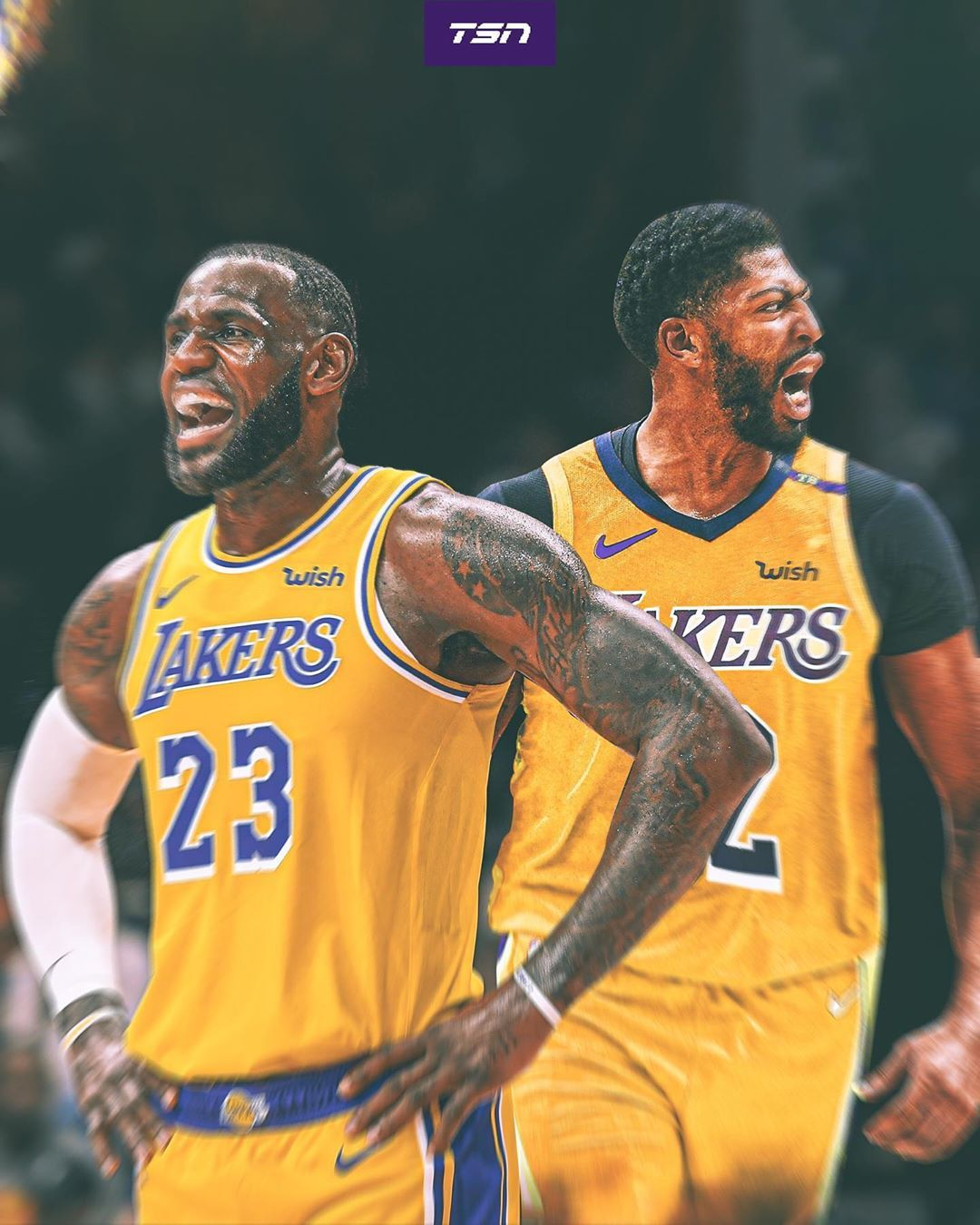 The Lakers Have Themselves A Dynamic Duo Best Nba Players Lebron James Lakers Wallpaper