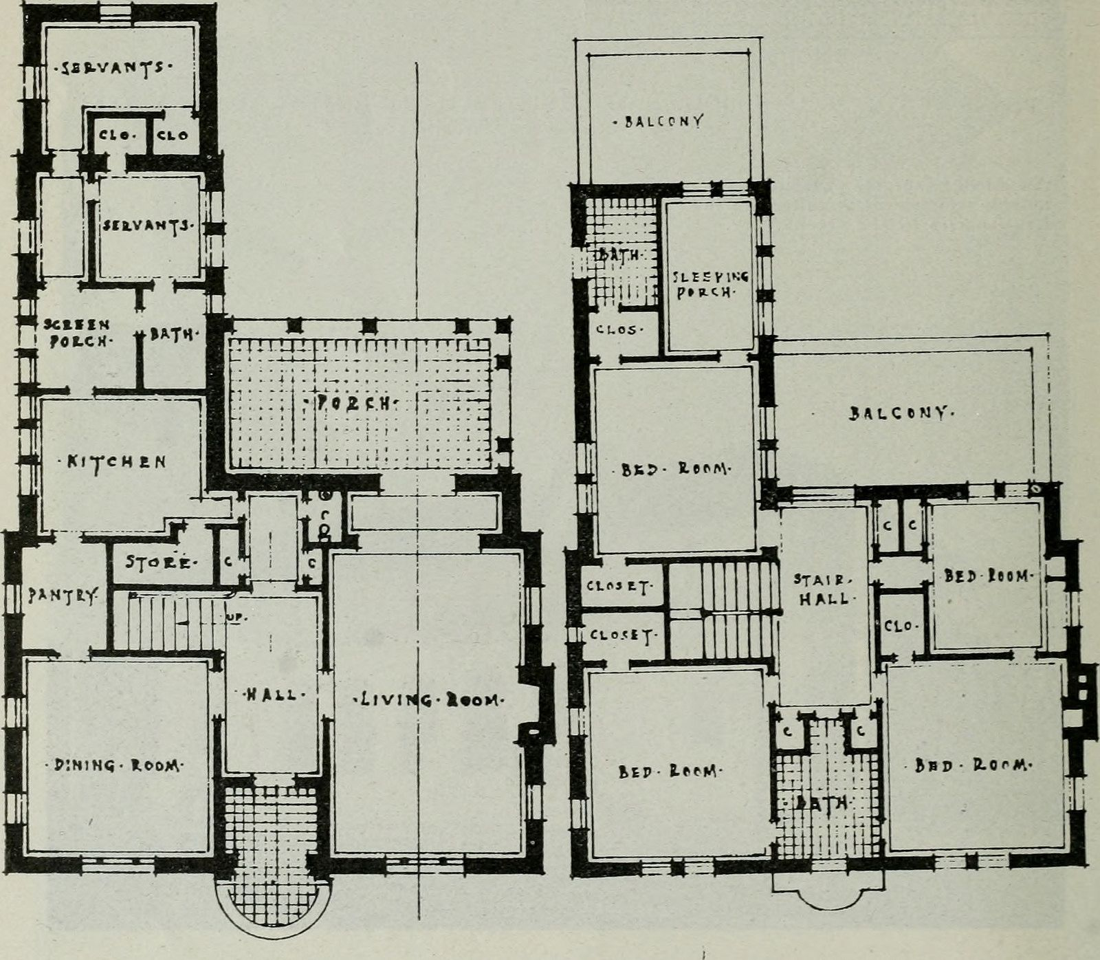 Image From Page 275 Of Architect And Engineer 1905 Vintage House Plans House Floor Plans House Plans