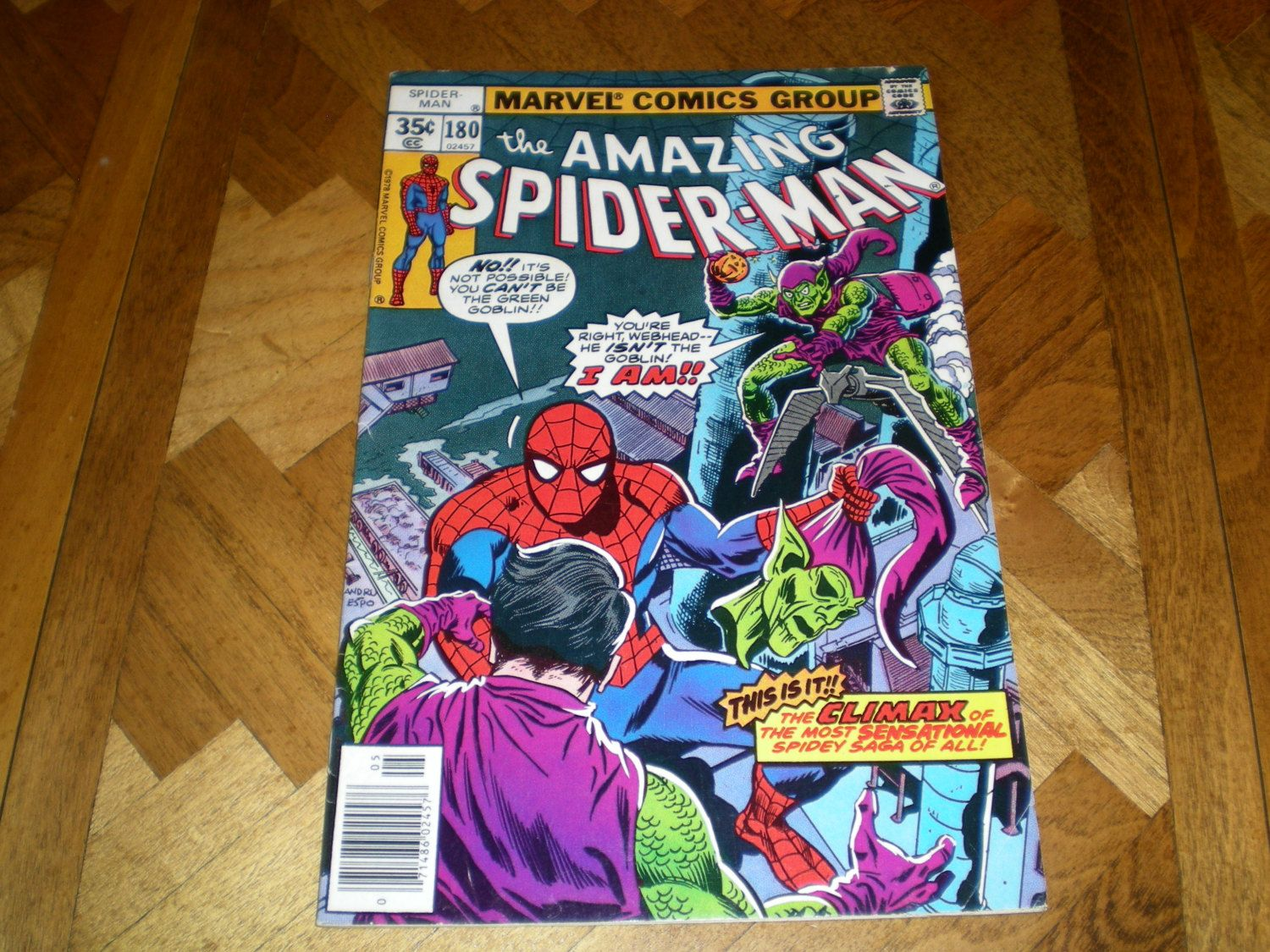 Amazing Spider-Man 180, (1978), Marvel Comics by HeroesRealm on Etsy