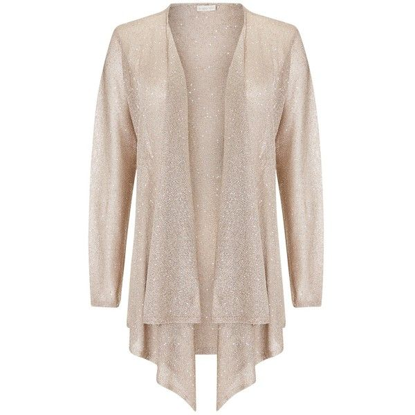 Jacques Vert Drape Metallic Cover Up, Gold ($58) ❤ liked on ...