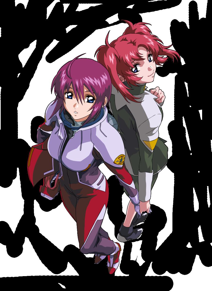 Lunamaria and Meyrin Hawke Gundam Seed Destiny Vector