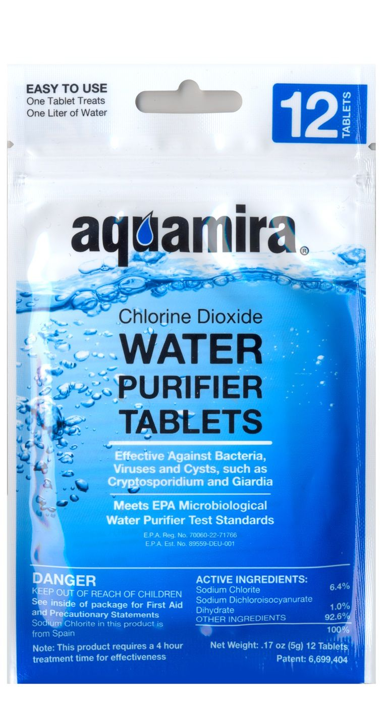 Aquamira Water Purification Tablets Water Purification Tablets
