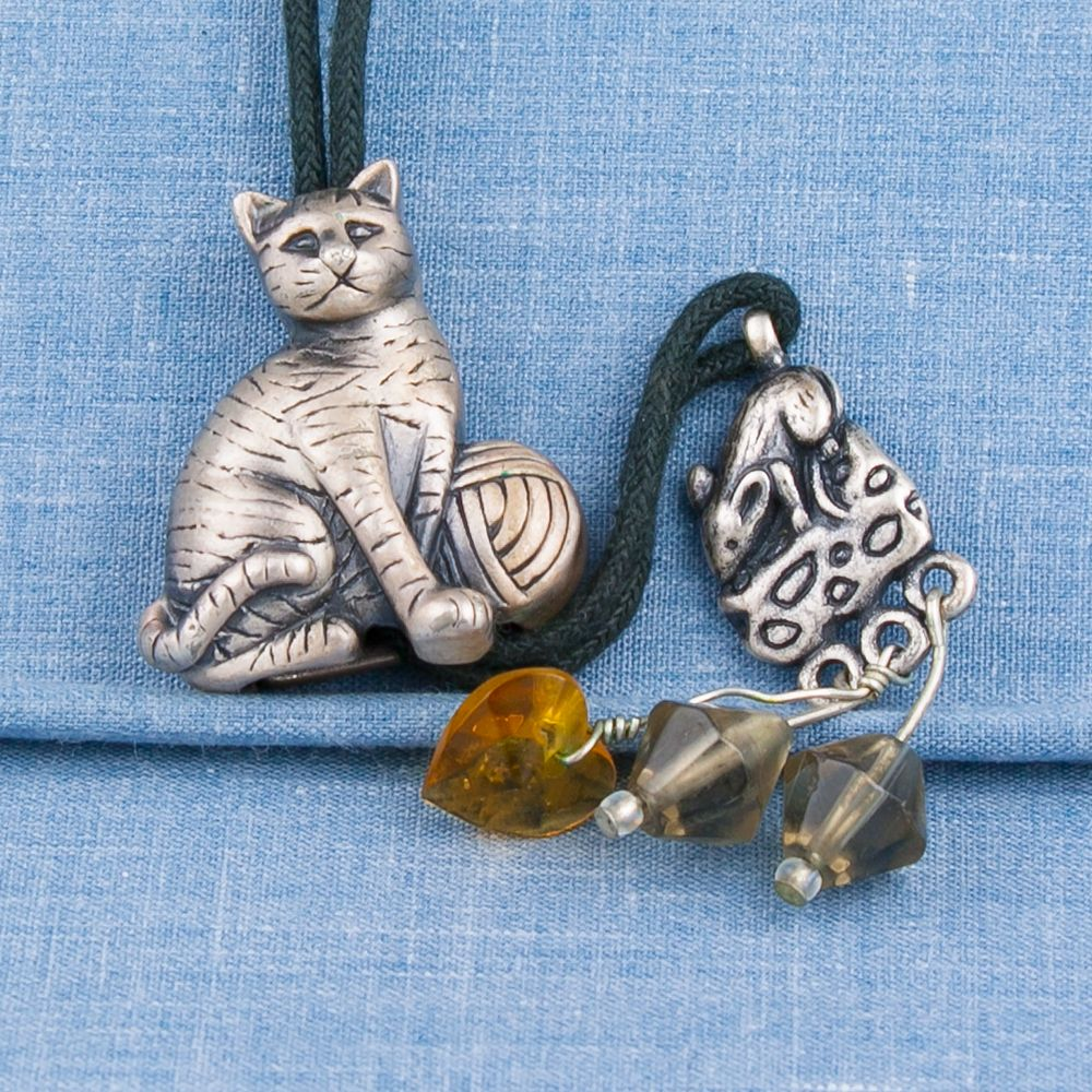 Necklace pendant funny cat kitten jewelry collection