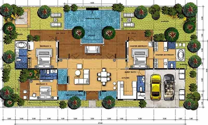 House for Sale by Owner, Watergarden Villa, Pool Garden