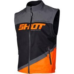 Photo of Shot Bodywarmer Lite Motocross Weste Grau Orange Xl Shot