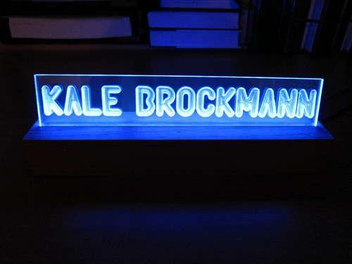 Simple Led Project Illuminated Plexiglass Sign Hack N