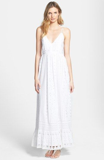 MICHAEL Michael Kors Eyelet Cotton Maxi Dress | Nordstrom