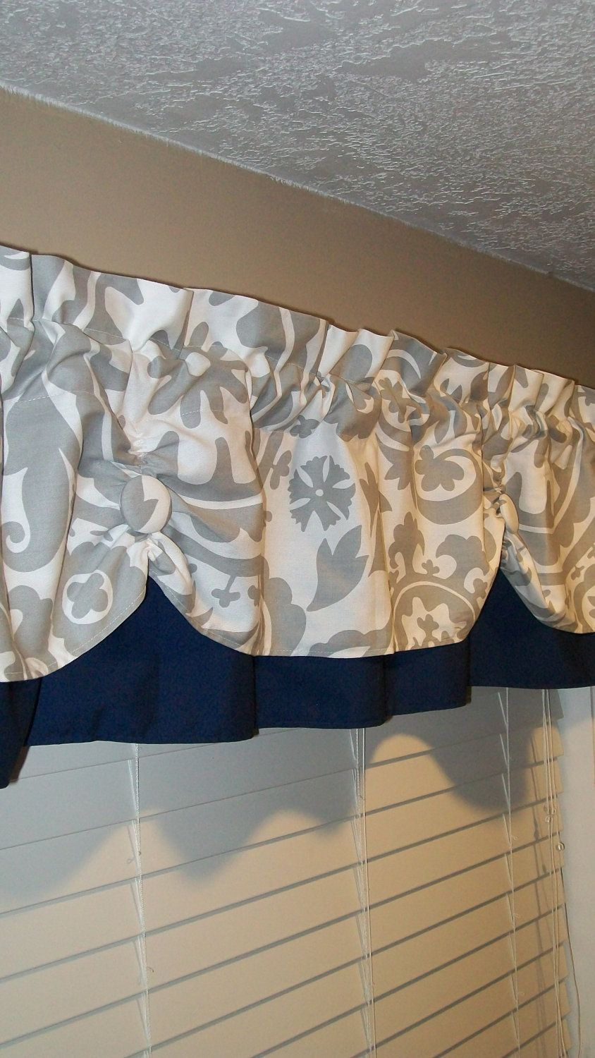 Valance Window Curtain Swagged Swag Custom Made By Country Ruffles This Would Be Perfect For The Kitchen
