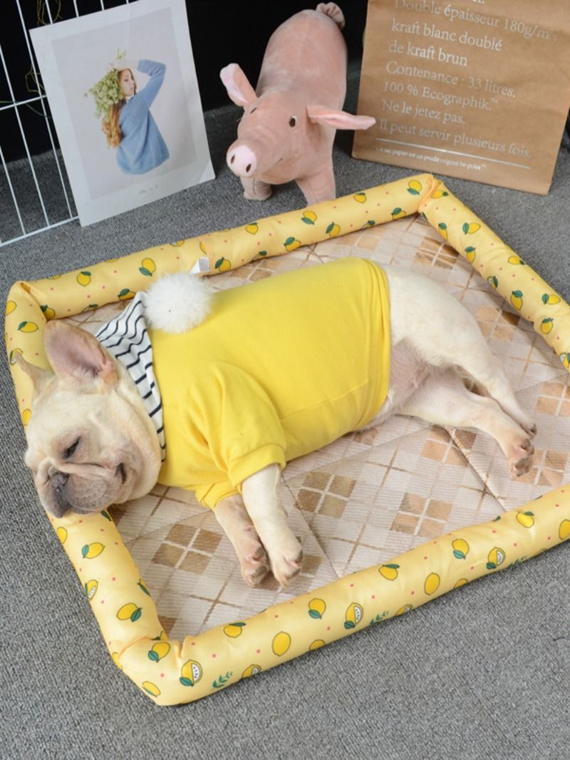 Summer Self Cooling Mattress Dog Bed For Bulldogs Cool Dog Beds Dog Bed Cushion French Bulldog Bedding