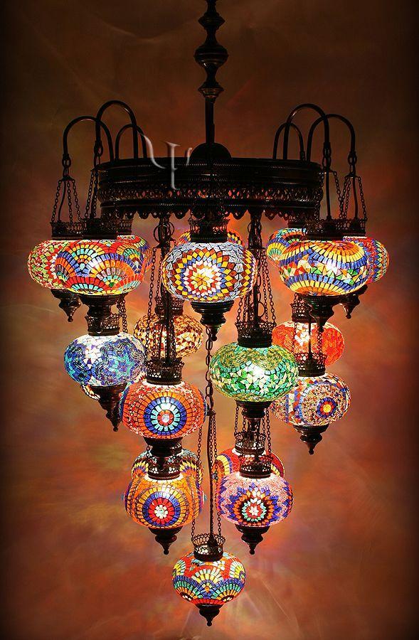 Mosaic chandelier yurdan beautiful my bohemian style mosaic chandelier yurdan beautiful aloadofball Choice Image