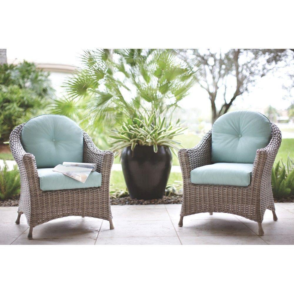 Martha Stewart Living Lake Adela Patio Chat Chairs with ... on Martha Stewart Living Chaise Lounge id=90797