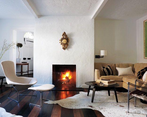 Doug Turshen S Living Room Elle Decor Fireplace Design Living Room Designs Living Decor