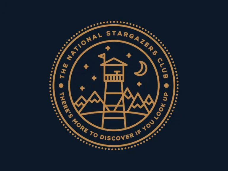 free circular logo template the national stargazers club design