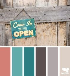 Rustic Hues Coral Teal Warm Turquoise Dark Brown Grey And Gray Tananother Possible Color Scheme For The Home