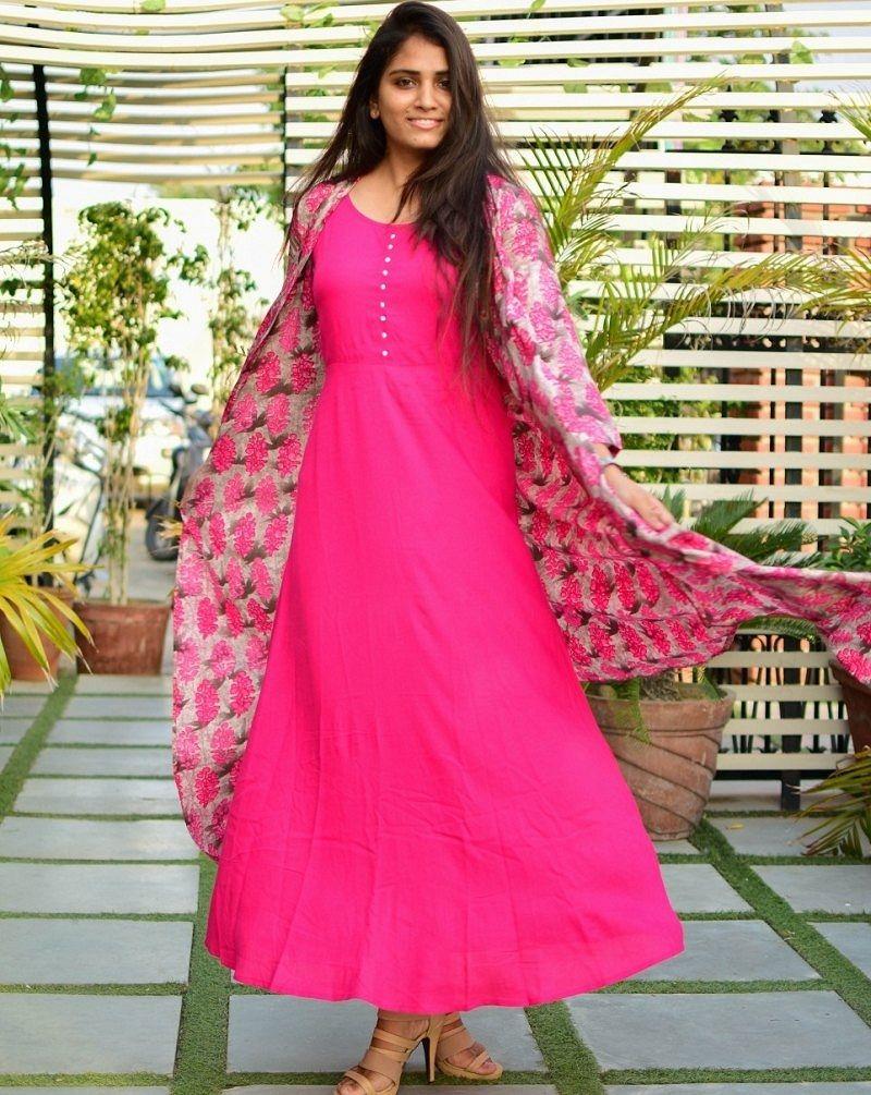 Printed pink cape maxi dress dvibgyor lifestyle pinterest cape