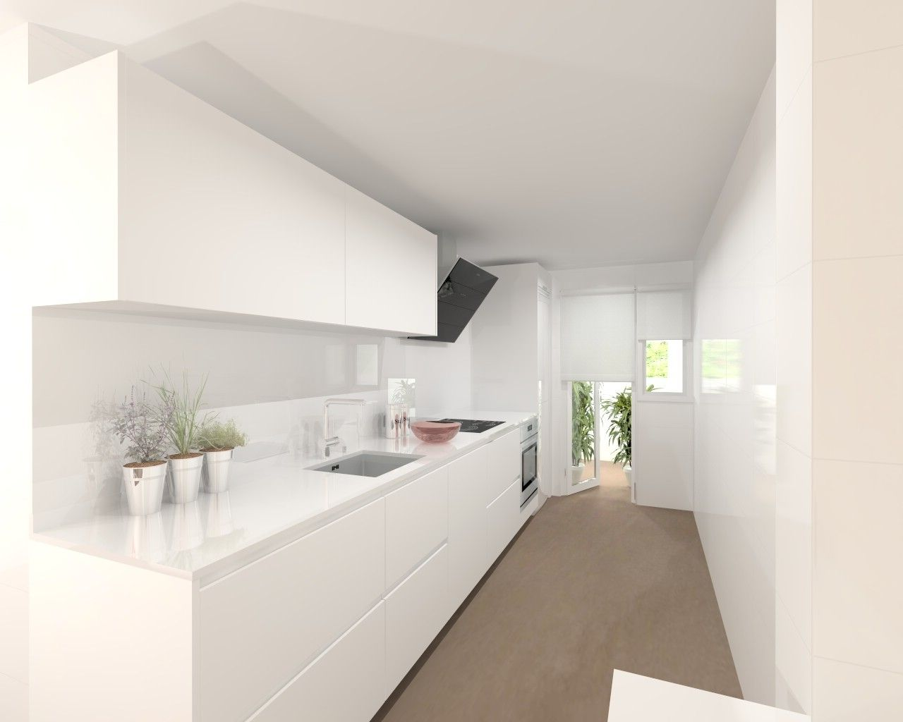 Modelo line estratificado blanco encimera silestone for Encimera de cocina lacada en blanco negro