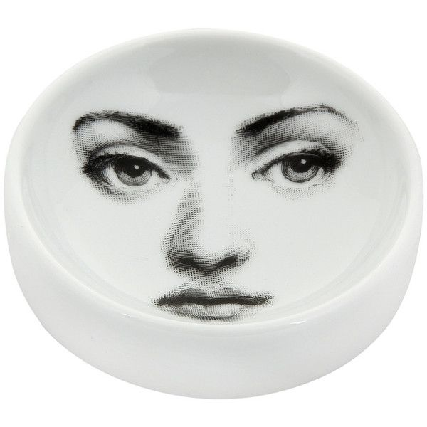 Fornasetti Tema e Variazioni Ashtray/Trinket Tray - No.6 ($125) ❤ liked on Polyvore featuring home, home decor, small item storage, fornasetti, contemporary home decor and porcelain ashtray