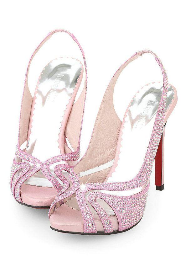 da1ebc62a2e Gorgeous Rhinestone Pierced Peep Toe Platform Pink Wedding Evening Prom  Shoes High Heel 11cm For Sale