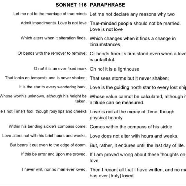 My Boyfriend Quoted This Sonnet To Me In A Letter He Wrote For Me