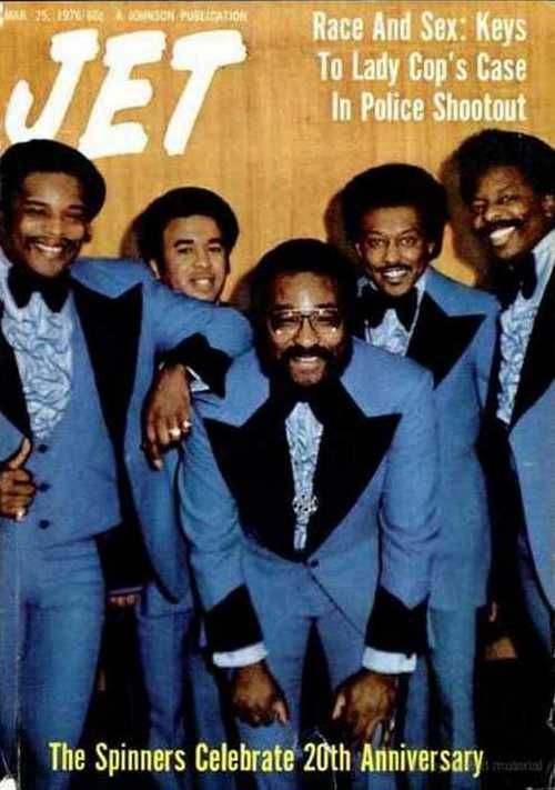 The Spinners On The Cover Of Jet Magazine March 1976 The Super