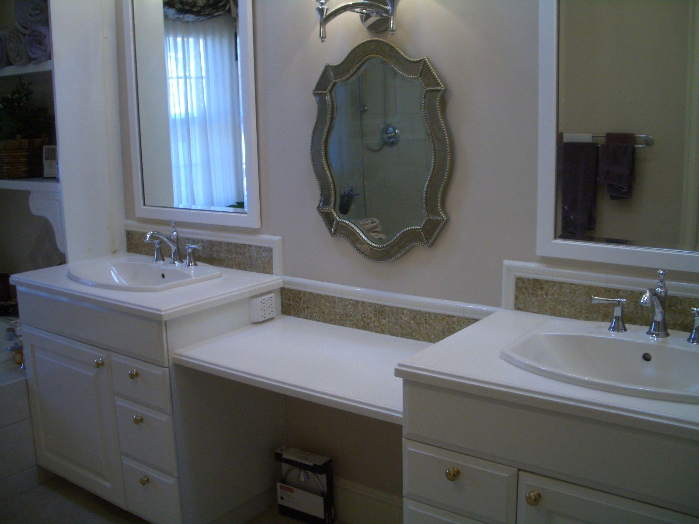 Glass Tile Backsplash Bathroom Vanity O