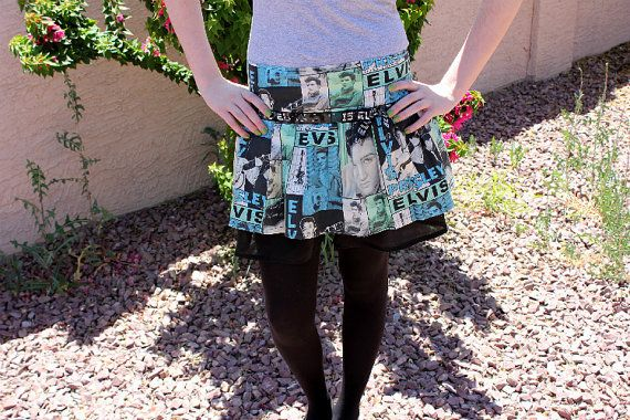 Handmade Retro Style Elvis Presley Skirt by justpixiedust on Etsy, $30.00