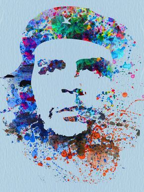 Che Guevara Watercolor by Naxart Studio
