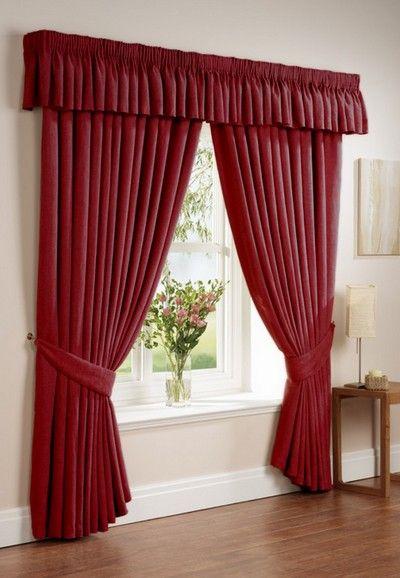 modelos de cortinas de tela para living