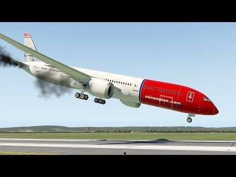 XPlane 11 Norwegian Air B787 Landing To Olso Airport